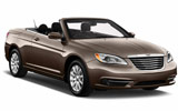 Chrysler 200 convertible car rental at Miami Airport, USA