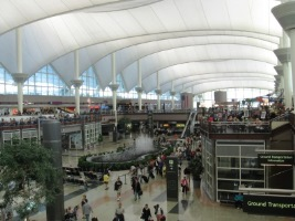 Car rental at Denver Airport, USA